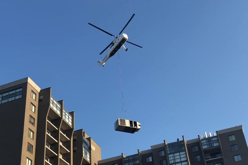 Helicopter HVAC Lift in Seattle