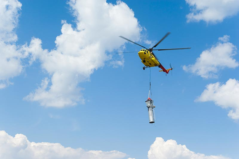 Tower Construction by Helicopter in Washington